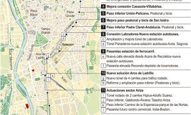 Valladolid Alta Velocidad acuerda licitar la redacción de cuatro pasos subterráneos que suman una inversión de 34 millones